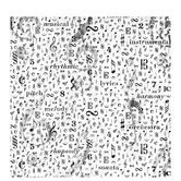 "Black & White Music Notes Scrapbook Paper - 12"" x 12"""