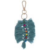 Turquoise Knotted Thread Keychain