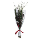 Green Leaf, Berry & Pinecone Bouquet