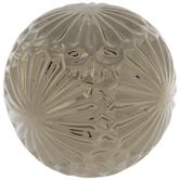 Gold Sunburst Metal Decorative Sphere