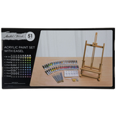 Acrylic Paint & Easel - 51 Piece Set