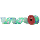 """Bright Christmas Trees Wired Edge Ribbon - 2 1/2"""""""