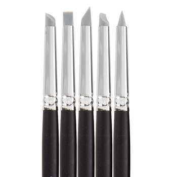 Size 2 Rubber Brushes - 5 Piece Set