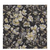 "Black & Gold Foil Floral Scrapbook Paper - 12"" x 12"""
