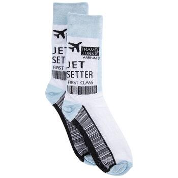 Travel Junkie Crew Socks - Large