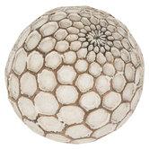 Ivory Honeycomb Decorative Sphere