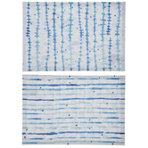 White & Blue Patterned Placemats