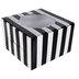 Black & White Striped Single Cupcake Boxes
