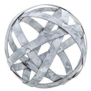 Metal Band Decorative Sphere