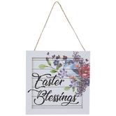 Easter Blessings Shiplap Floral Ornament