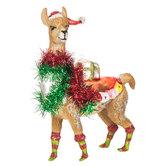Fancy Christmas Llama Ornament