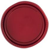 Metallic Red Round Platter