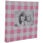 "Pink & White Buffalo Check Photo Album - 4"" x 6"""