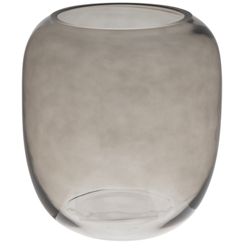 Gray Round Glass Vase