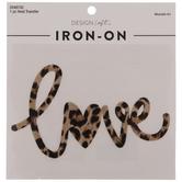Love Leopard Print Iron-On Applique