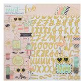 """Mint To Be Fab Scrapbook Kit - 12"""" x 12"""""""