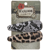Animal Print Hair Clips
