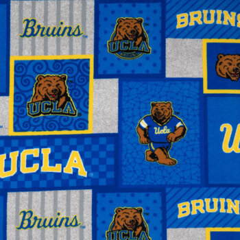 UCLA Block Collegiate Fleece Fabric