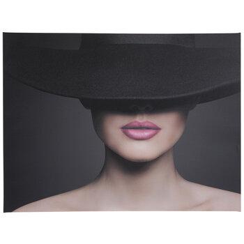 Pink Lips Canvas Wall Decor
