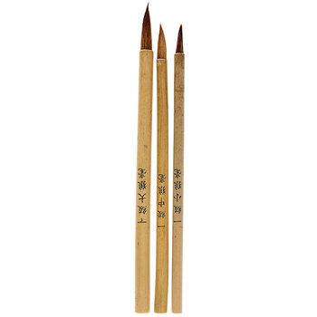 Chinese Bamboo Paint Brushes - 3 Piece Set