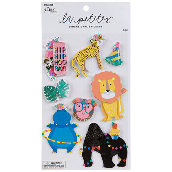Jungle Party Animal 3D Stickers