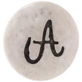 Hammered Alphabet Snap Charm - A