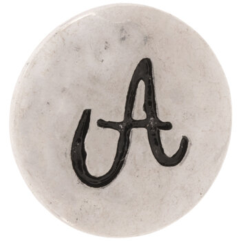 Hammered Alphabet Snap Charm