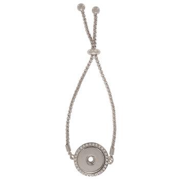 Rhinestone Snap Chain Slider Bracelet