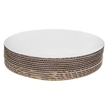 "White Round Cake Boards - 10"""