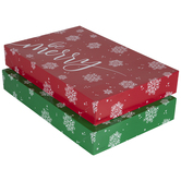 Be Merry Red & Green Snowflake Robe Gift Boxes