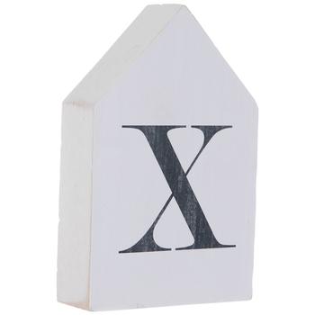 White & Black Letter House Wood Wall Decor - X
