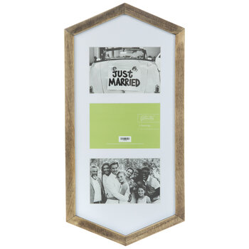 Hexagon Wood Clip Collage Frame