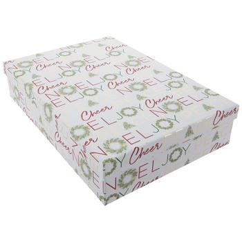 "Joy Wreath Gift Box - 11 1/8"" x 15 3/4"""
