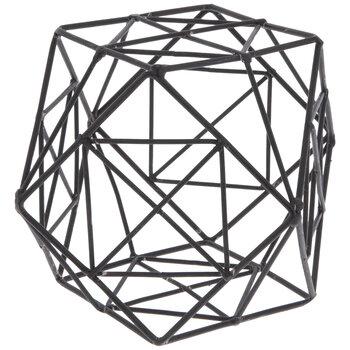 Brown Geometric Metal Decorative Sphere