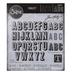 Sizzix Thinlits Alphanumeric Shadow Upper Dies