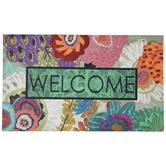 Floral Welcome Doormat