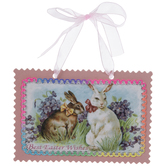 Best Easter Wishes Bunnies Ornament