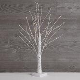 "White Birch Pre-Lit Christmas Tree - 24"""