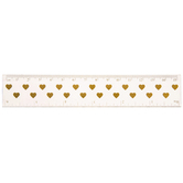 Gold Hearts Ruler