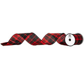 Plaid Wired Edge Ribbon - 4""