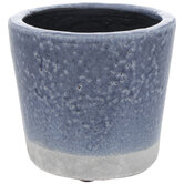 Two-Tone Crackled Pot