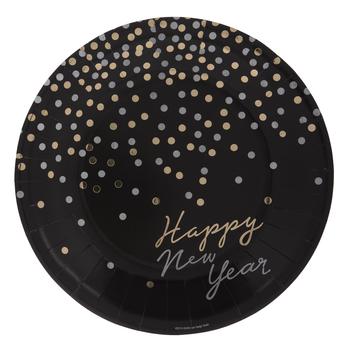 Happy New Year Confetti Paper Plates
