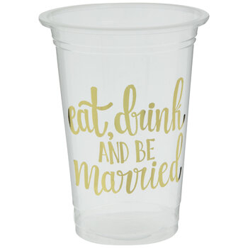 Eat, Drink & Be Married Cups