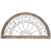 Distressed White & Blue Arch Wood Wall Decor