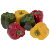 Green, Red & Yellow Bell Peppers