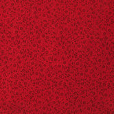 Tonal Red Scroll Cotton Calico Fabric