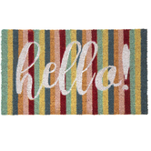 Bright Striped Hello Doormat