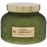 Green Wreath Frosted Jar Candle