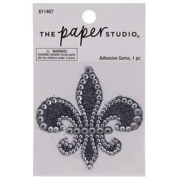 Fleur-De-Lis Glitter & Rhinestones Sticker