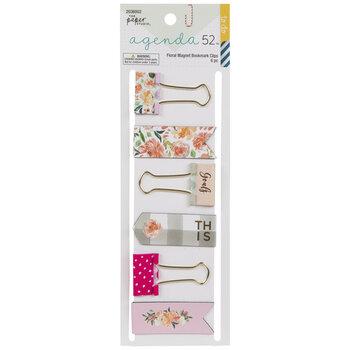 Floral Binder Clips & Magnetic Bookmarks